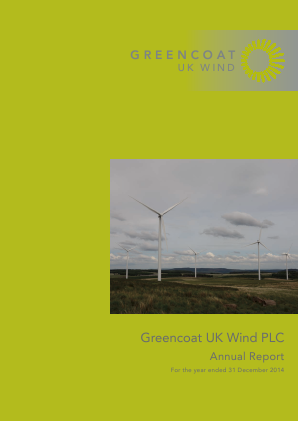 Greencoat UK Wind Plc annual report 2014