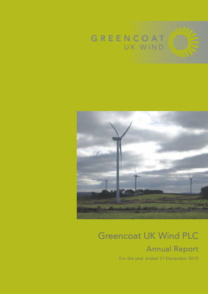Greencoat UK Wind Plc annual report 2015