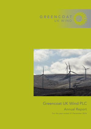Greencoat UK Wind Plc annual report 2016