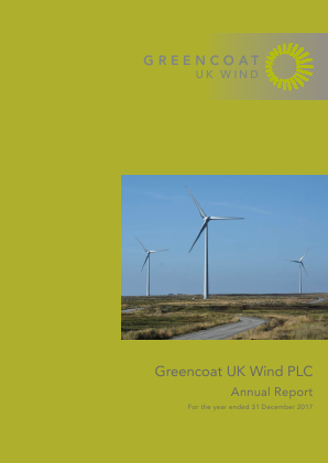 Greencoat UK Wind Plc annual report 2017