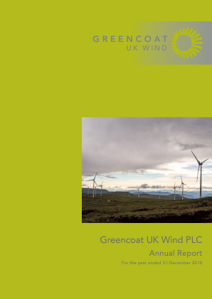 Greencoat UK Wind Plc annual report 2018