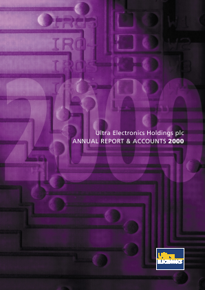 Ultra Electronics Holdings annual report 2000