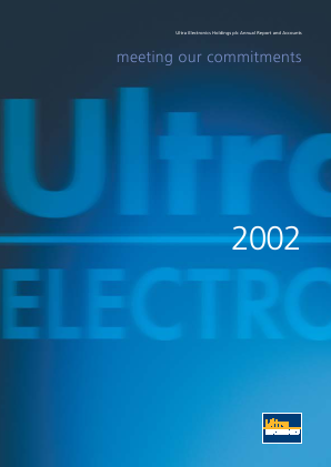 Ultra Electronics Holdings annual report 2002