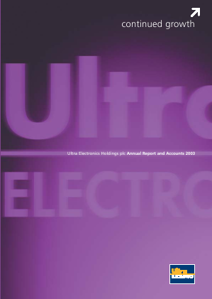 Ultra Electronics Holdings annual report 2003