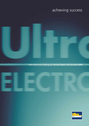Ultra Electronics Holdings annual report 2004