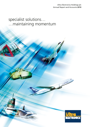 Ultra Electronics Holdings annual report 2010