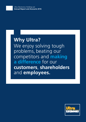 Ultra Electronics Holdings annual report 2016