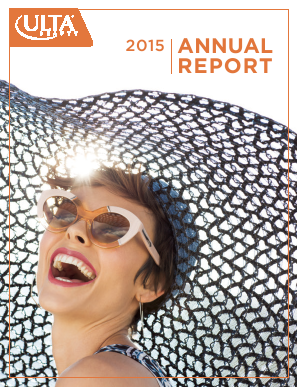 ULTA Salon, Cosmetics & Fragrance, Inc. annual report 2015