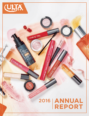 ULTA Salon, Cosmetics & Fragrance, Inc. annual report 2016