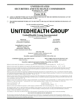 UnitedHealth Group annual report 2013