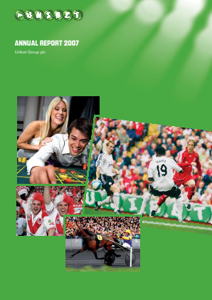 Unibet Group annual report 2007