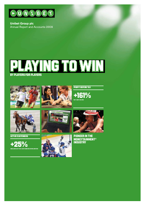 Unibet Group annual report 2009