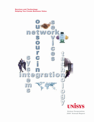 Unisys Corp annual report 2001
