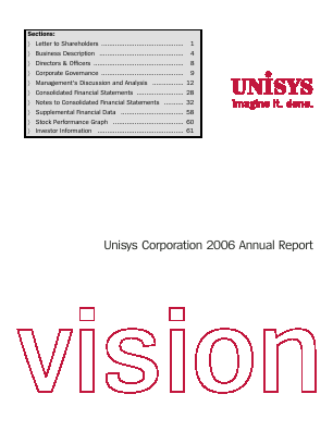 Unisys Corp annual report 2006
