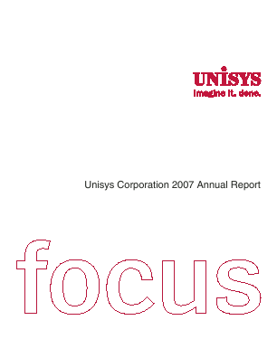Unisys Corp annual report 2007