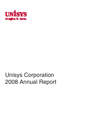 Unisys Corp annual report 2008