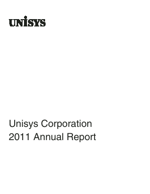 Unisys Corp annual report 2011
