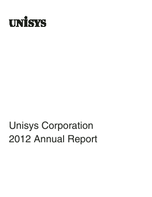 Unisys Corp annual report 2012