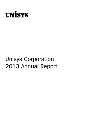 Unisys Corp annual report 2013