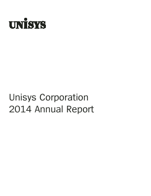 Unisys Corp annual report 2014