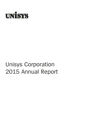 Unisys Corp annual report 2015