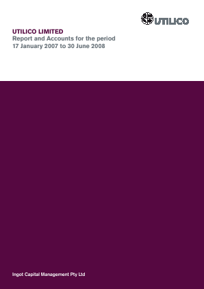 UIL Limited (previously Utilico Investments ) annual report 2008