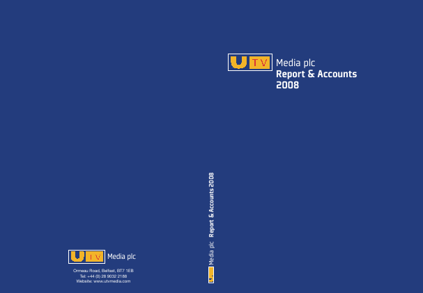 Wireless Group (formally UTV Media) annual report 2008
