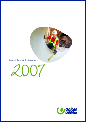 United Utilities Group Plc annual report 2007