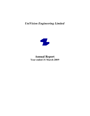 Univision Engineering annual report 2009