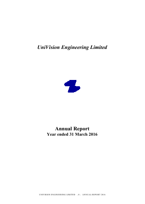 Univision Engineering annual report 2016