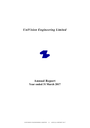 Univision Engineering annual report 2017