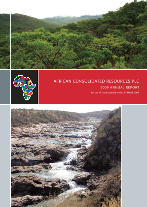 Vast Resources Plc annual report 2009