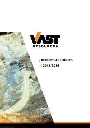 Vast Resources Plc annual report 2016