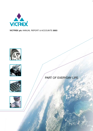 Victrex annual report 2003