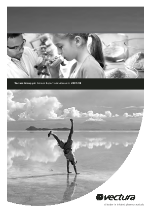 Vectura Group annual report 2008