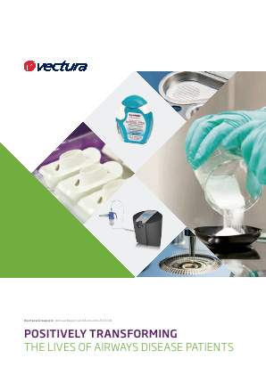 Vectura Group annual report 2016