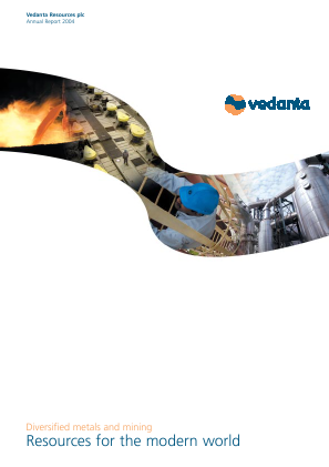 Vedanta Resources annual report 2004