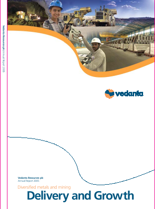 Vedanta Resources annual report 2005