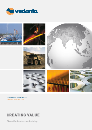 Vedanta Resources annual report 2006