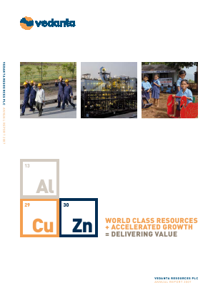 Vedanta Resources annual report 2007