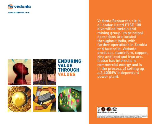 Vedanta Resources annual report 2008