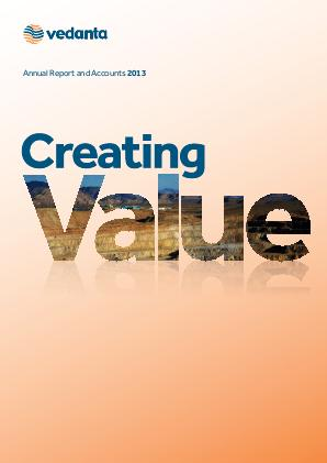 Vedanta Resources annual report 2013