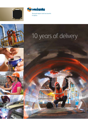 Vedanta Resources annual report 2014