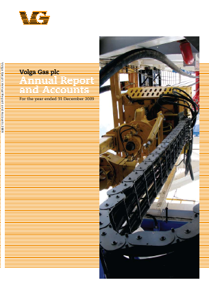 Volga Gas Plc annual report 2009