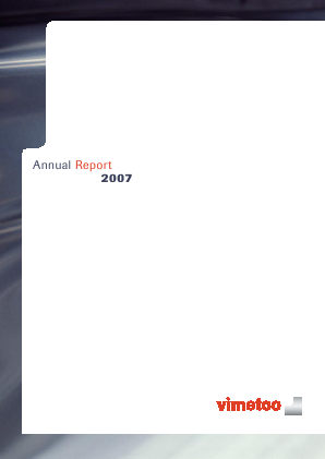 Vimetco NV annual report 2007