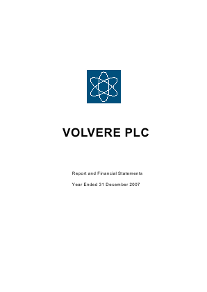 Volvere annual report 2007