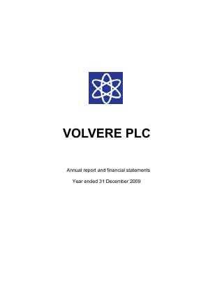 Volvere annual report 2009