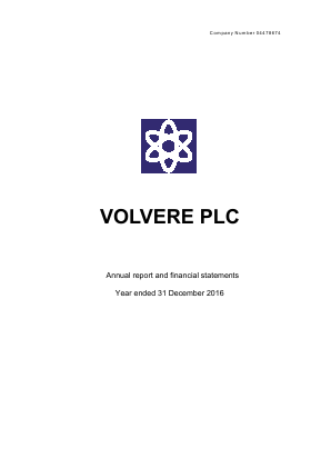 Volvere annual report 2016