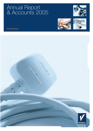 Volex Plc annual report 2005