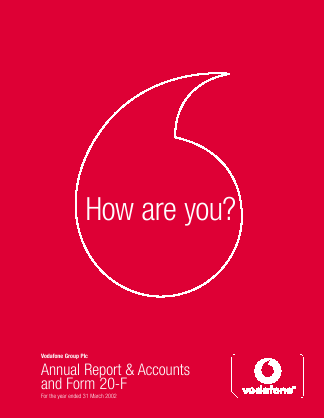 Vodafone Group annual report 2002